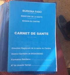 A Carnet de Santé. Photo by the author, 2019