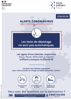 Poster edited by the French national Public Health Agency and published on 27 March 2020